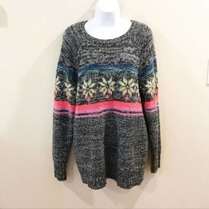 American Eagle | Gray Wool Jegging Sweater Large